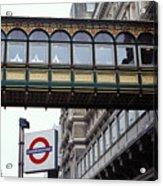 Footbridge In Central London Acrylic Print