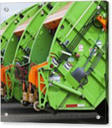 Garbage Truck Fleet Acrylic Print by Don Mason