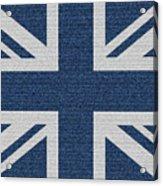 Great Britain Denim Flag Acrylic Print