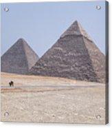 Great Pyramids Of Giza - Egypt Acrylic Print