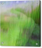Green Landscape Abstract Acrylic Print