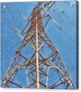 High Voltage Pylon Acrylic Print