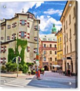 Historic Street Of Innsbruck View Acrylic Print