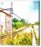 House On The Railway Acrylic Print