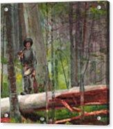 Hunter In The Adirondacks Acrylic Print