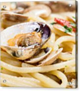 Italian Spaghetti And Clams Made In Naples Acrylic Print
