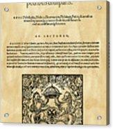 Konrad Von Gesner Acrylic Print