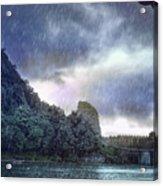 Lijiang River Boat Tour In The Rain-arttopan-china Guilin Scenery Acrylic Print