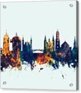 Ljubljana Solvenia Skyline Acrylic Print