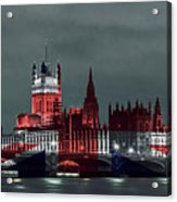 London Cityscape With Big Ben Acrylic Print