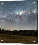 Milky Way Over A Farm Shed Acrylic Print