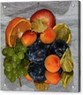 Multicolor Fruits Acrylic Print