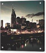 Nashville At Dusk Acrylic Print