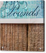 New Uk Five Pound Note Acrylic Print