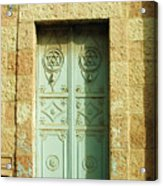 old suburb in Jerusalem. Acrylic Print