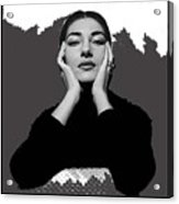 Opera Singer Maria Callas No Date-2010 Acrylic Print