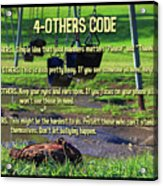 4-others Code Acrylic Print