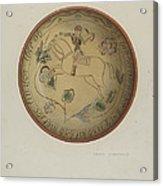 Pa. German Plate Acrylic Print