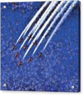 Painting Of Red Arrows Aerobatic Team Acrylic Print