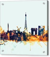 Paris France Skyline Acrylic Print