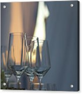 Party Setting With Bokeh Background Acrylic Print