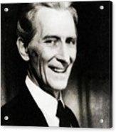 Peter Cushing, Vintage Actor Acrylic Print