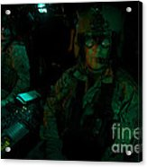 Pilots Equipped With Night Vision Acrylic Print