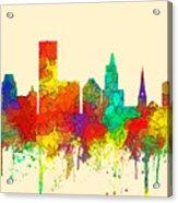 Providence Rhode Island Skyline Acrylic Print