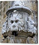 Public Fountain In Dubrovnik Croatia Acrylic Print