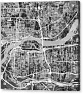 Quad Cities Street Map Acrylic Print