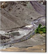 Rocky Landscape Of Leh City Ladakh Jammu And Kashmir India Acrylic Print