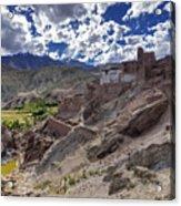 Ruins At Basgo Monastery Leh Ladakh Jammu And Kashmir India Acrylic Print