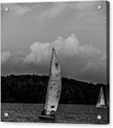 Sail Boat On Large Lake Acrylic Print