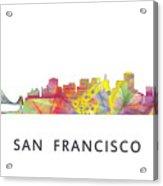 San Francisco California Skyline Acrylic Print
