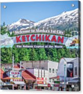 Scenery Around Alaskan Town Of Ketchikan Acrylic Print