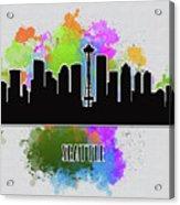 Seattle Skyline Silhouette Acrylic Print