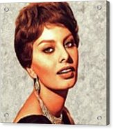 Sophia Loren, Vintage Movie Star Acrylic Print