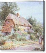 Stannardhenryjohnsylvester Girllookingatacottage-we F018 Henry  Sylvester Stannard Acrylic Print