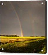 Storm Clouds Prairie Sky Acrylic Print