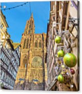 Strasbourg,christmas Market, Alsace France  Acrylic Print