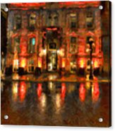 Street Reflections Acrylic Print