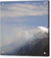 Stromboli Volcano On The Island Of Stromboli Acrylic Print