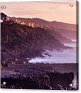 Sunset In The Portuguese Coast Acrylic Print