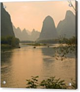 Sunset On The Li River Acrylic Print