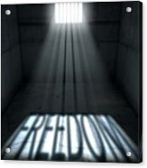 Sunshine Shining In Prison Cell Window Acrylic Print