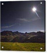 Swiss Alps In The Night Acrylic Print