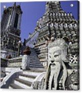 Temple Detail In Bangkok Thialand Acrylic Print