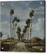 The Avenue At Middelharnis Acrylic Print