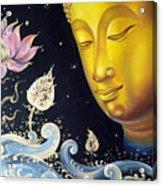 The Light Of Buddhism Acrylic Print