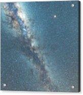 The Milky Way And Mars Acrylic Print